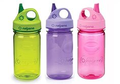 Nalgene Kids  Childrens GripnGulp 12oz Water Bottles 3 Bottle Bundle Pack Pink Purple and Green >>> Read more  at the image link.Note:It is affiliate link to Amazon.