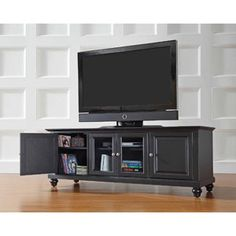 """Crosley Furniture Cambridge Low Profile TV Stand for TVs up to 60"""""""