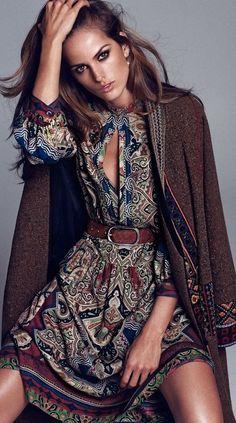 Izabel Goulart by Xavi Gordo for Elle Spain September 2014