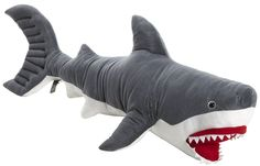 Stuffed Toys For Boys Giant Stuffed Animals, Dinosaur Stuffed Animal, Stuffed Toys, Shark Plush, Baby Aspen, Lego Architecture, Melissa & Doug, Laundry Hamper, Toy Organization