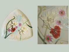 The Enchanted Garden plate with close-up detail