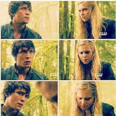 """The 100 - Bellamy & Clarke. That moment when Clarke realized Bellamy wasn't a complete and total soulless jerk, and Bellamy realized """"The Princess"""" was pretty tough. Possibly the definitive I-Ship-Bellarke moment for me. <3"""