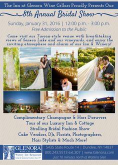 Glenora Wine Cellars - Weddings - Bridal Show 2016 - Finger Lakes - Watkins Glen