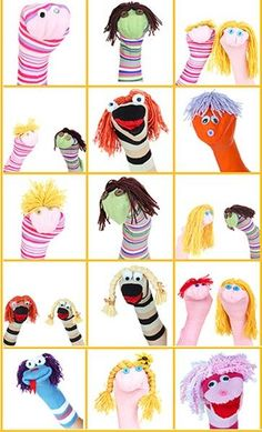 For Tiger Theatre: Finger Puppet #Crafts Ideas: Here are some attractive finger puppets for kids to make!