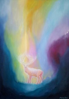 Wonder Stag (oil painting)