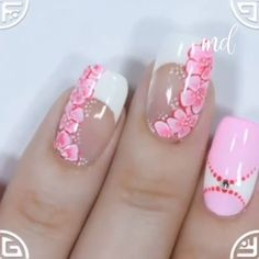 Nail art ideas to satisfy everyone's different tastes 😊 By: Nailart (Stap Voor Stap) This nail artist simply nailed it! 😊 By: Yagala Joan Flower nail art design tutorial Rose Nail Art, Butterfly Nail Art, Flower Nail Art, Silver Nail Art, White Nail Art, Gold Nail, Nail Nail, Nail Art Hacks, Nail Art Diy