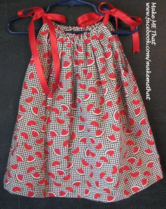 Watermelon Pillowcase Dress 6  12 months by MakeMeThatCrafts, $20.00