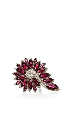 Red Garnet Feathers Cocktail Ring by Stephen Webster for Preorder on Moda Operandi