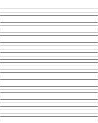 printable lined paper - free