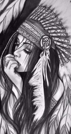 Tattoo disney drawings Ideas - Tattoo disney drawings Ideas Best Picture For girl tattoo simple For Your Taste You a - Native American Drawing, Native American Tattoos, Native Tattoos, Native American Girls, Warrior Tattoos, Kunst Tattoos, Body Art Tattoos, Sleeve Tattoos, Tattoo Sketches