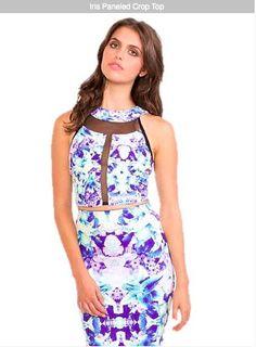 boutique flirt - Donna Mizani Iris Paneled Crop Top, $112.00 (http://www.boutiqueflirt.com/donna-mizani-iris-paneled-crop-top/)
