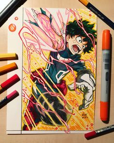 Izuku Midoriya  Drawing with Copic Markers