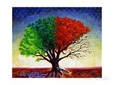 Tree For All Seasons Giclee Print by John Newcomb at AllPosters.com