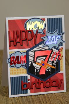 7th Birthday Comic Strip Card by Erin Lincoln for Papertrey Ink (January 2015)