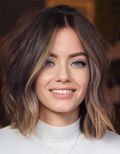 Elegant amp Unique Balayage Highlights for Medium Hair Medium Hair Styles, Short Hair Styles, Brown Hair Balayage, Balayage Highlights, Hair Color And Cut, Perfect Hair Color, Great Hair, Hair Day, Gorgeous Hair