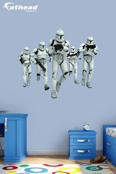 """""""Great product! My son loves this Clone Trooper Fathead as they complement his Star Wars room nicely."""" http://www.fathead.com/star-wars/star-wars-movies/clone-trooper-group-wall-decal/ 