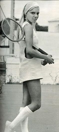 France Gall wearing 60's Courrèges ou Pierre Cardin - Bobbins and Bombshells: Fashionable History: Tennis, Anyone?