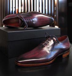 Men's Shoes, Shoe Boots, Dress Shoes, Gentleman Shoes, Purple Shoes, Man Up, Purple Leather, Man Style, Oxfords