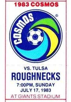 Best football gifts on Pinterest. http://www.shop.47straightposters.com/1983-Tulsa-vs-New-York-Soccer-Ticket-Art-FUTBOL-83COSMOS.htm