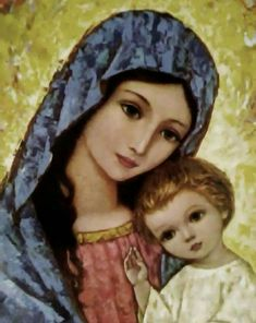 Jesus Mother, Blessed Mother Mary, Blessed Virgin Mary, Religious Images, Religious Art, Hail Holy Queen, Prayers To Mary, Church Flower Arrangements, Mama Mary