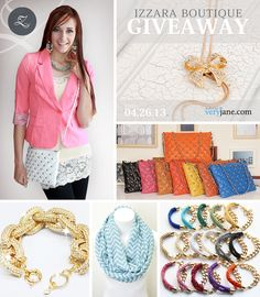 Win four nice prizes http://veryjane.com/giveaway.htm?utm_source=facebook_medium=social_campaign=izzaraboutiquegiveaway