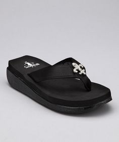 51f314b3de88e Take a look at this Black Meriam Flip-Flop - Girls by Corky s Footwear on