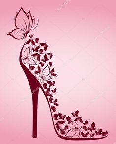 Illustration about High heel from beautiful butterflies, illustration for a design. Illustration of illustration, girl, butterfly - 19959129 Shoe Art, Art Shoes, Blue Butterfly, Butterfly Shoes, Simple Butterfly, Flower Shoes, Beautiful Butterflies, Fashion Sketches, Wallpaper Backgrounds