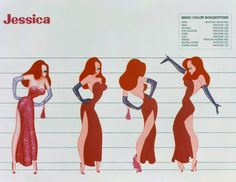 Jessica Rabbit Pantone Color Guide
