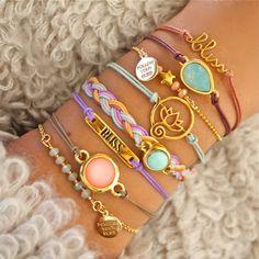 Bracelets by www.followyourbliss.nl armcandy, bracelets, swarovski, gemstones, webshop, stacking bracelets, bliss, pastel, mix, acessories, jewellery, dutchdesign