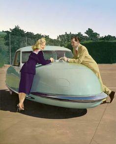 Futuristic Davis automobile