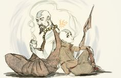 ATLA & TLOK - Tenzin, Aang: avatar last airbender [ Father and son :) ]  http://jasjuliet.deviantart.com/art/Again-307744520