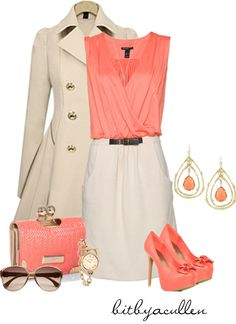 """Coral"" by bitbyacullen on Polyvore. Love the colour coral."