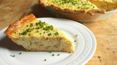 No pie crust? No problem! This tasty bacon-Cheddar quiche recipe uses crescent rolls instead of pie crust for an easy twist on a bacon, egg and cheese breakfast.