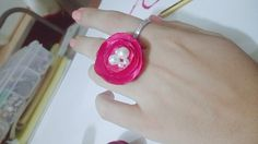 DIY How to Make an Easy Satin Flower Ring + Tutorial .