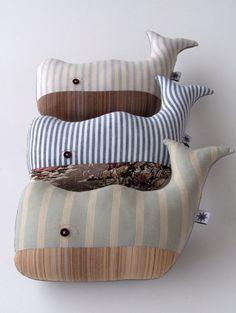 Cute whale plushies