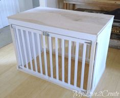 How to Create a Gorgeous Dog Crate From an Old Crib - DIY Craft Projects