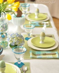 Spring colors for the Table