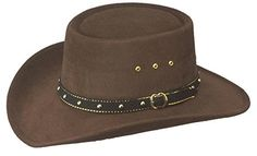 Western Faux Felt Gambler Cowboy Hat -Brown S M - Most Wanted Christmas Toys 281b108f2b23