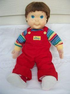 """""""my buddy and meeeeee!!""""    Vintage FIRST VERSION 1985 MY BUDDY DOLL Hasbro 22""""  Blue eyes Brown hair"""