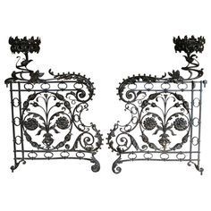 Good grief these are stunning!!! A pair of late 19th Century Spanish decorative wrought iron gates; circa 1890.