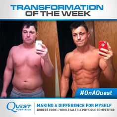 """""""When deciding to make a positive change in your life, it's very important to sit down and become completely aware of what needs to be done."""" - Robert Cook  Click and read how Robert overcame alcohol and depression in Part 1 of his inspirational #transformation story. #OnaQuest"""