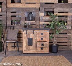 Buffet industriel métal et bois. Industrial Sideboard