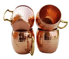 Hand Hammered Pure Copper Moscow Mule Mugs / Cups Capacity-16 Ounce #Handmade