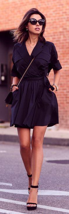 Little Black Shirtdress Styling by Vivaluxury