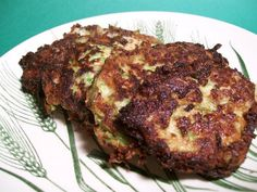 Italian Zucchini-Mozzarella Patties (I made these but baked in oven like one comment mentioned. Didn't crisp up but the flavor was awesome. Might pan fry the baked ones a little to brown them more.)