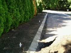 Sidewalk Edging | ... and Pavers - Dressing Up an Asphalt Driveway - All About The House