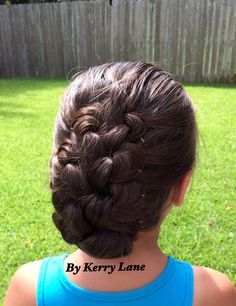 Pretty Knotted Braid Up-Do