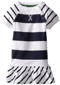 Nautica Sportswear Kids Girls 2-6X Short Sleeve Stripe Dress $15.06