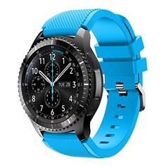 Teresamoon Watch Band Strap Contracted Design Style Bands Strap For Samsung Gear S3 Frontier (Sky Blue)