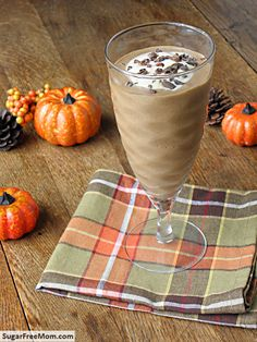 Pumpkin Mocha Protein Smoothie {No Sugar Added}